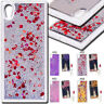 For Sony Xperia XA1 3D Dynamic Quicksand Glitter TPU Case Rubber Soft Back Cover