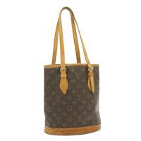 LOUIS VUITTON Monogram Bucket PM Shoulder Bag M42238 LV Auth **Screw cr709