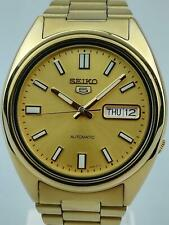Seiko 5 Automatic Gold PVD Stainless Steel Men's Watch SNXS80K1 PREOWNED