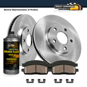 Front Brake Disc Rotors And Ceramic Pads For Fusion MKZ Zephyr Mazda 6 Milan