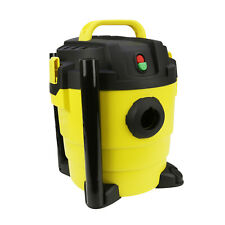 Heavy Duty Wet & Dry Vacuum Cleaner Wheeled 10 Litre 1000W Yellow + Hose & Tools