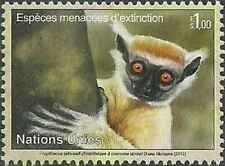 Timbre Animaux Primates Lémuriens Nations Unies Genève 800 ** année 2012 (35395)