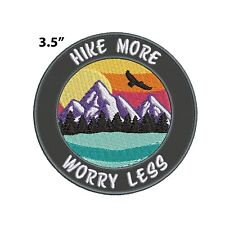 New ListingHike More Worry Less Embroidered Patch Iron-on / Sew-on Nature Lover Applique