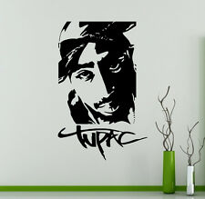Tupac Shakur Wall Vinyl Decal 2Pac Vinyl Sticker Home Interior Removable Decor 9