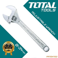 "Total Tools - ADJUSTABLE SPANNER 300mm 12"" & 0-34mm Wide Jaw Drop Forged Steel"