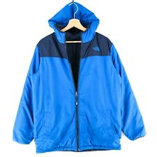 The North Face Teens Boys Men Blue Reversible Jacket Size Boys XL 18-20 Years