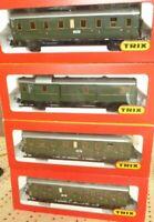 Trix 3758, 3759 2x, 3760 H0 Konvolut Plattform-Abteil-Personenwagen Epoche 2/3