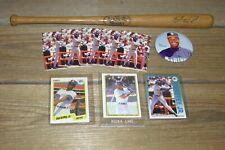 """Vintage Ken Griffey Jr. 16 """" Wood Mini Bat - Mariners Rookie Schedule - Pin Card"""