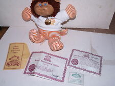 Vintage 1984 Cabbage Patch Doll Koosas Pet with Certificates - Fluffy