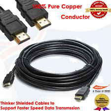 Premium HDMI Cable Gold Plated V1.4 3D High Speed Audio Ethernet 7.6M/25FT