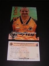WOLVES FC LEGEND STEVE BULL SIGNED (PRINTED) PHOTO + 1997 TESTIMONIAL v SANTOS