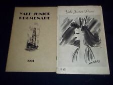 1931-1942 YALE PROM PROGRAM LOT 5 DIFFERENT - GREAT PHOTOS & ADS - O 1656