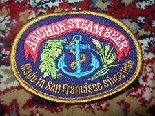 ANCHOR BREWING STEAM BEER LOGO PATCH sew on craft beer brewery san francisco