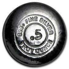 Lingot BOUTON 1/2 Once argent pur 999 / YPS 1/2 Oz Fine Silver 999 BUTTON Bar