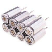 9mm Luger Bullet Push Pins Set of 8 Nickel 9 mm Gun  for the office