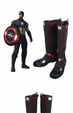 Avengers Captain America Civil War Steve Roger cosplay costume Boots Boot uk