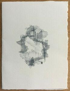 F82 Drawing Original Map Wishes Per Irene Zack (1918-2013)