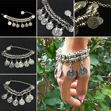 Hotsale Jewelry Turkish Festival Ethnic Coin Tassel Bracelet Anklet Bohemian Pop