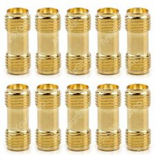 10Stk Adapter SMA Female To SMA Female Jack Buchse RF Connector Straight Gold