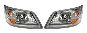 For Hino 258ALP 268A 338CT 06-14 Set of Left & Right Halogen Headlights Dorman