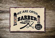 Barbiere Insegna, Segnale Metallico, Segni, Stile Vintage, Barbiere, 481