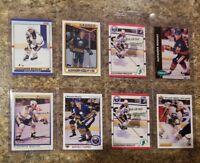 (8) 1990-91 Alexander Mogilny OPC Premier Upper Score Topps Rookie card lot RC