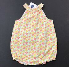 NWT JANIE AND JACK Lemon Park Ruffle Bubble Romper Outfit Size 18-24 Months