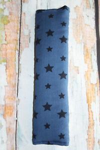 Tolles Auto Gurtpolster f. Kinder dunkelblau mit Sternen Stars Sternchen