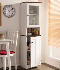 Kitchen Cabinet Storage Tall White Pantry Food Organizer Cupboard Furniture New