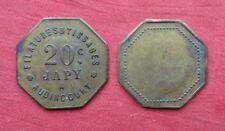 filatures et tissages JAPY à AUDINCOURT 20 c jeton en laiton token notgeld
