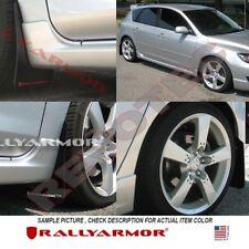 Rally Armor Basic Mud Flaps For 2004-2009 Mazda3 Speed3 Black w/ Black Logo