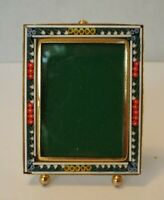 Vintage MICRO MOSAIC Miniature Rectangle Floral Picture Frame ITALIAN Victorian