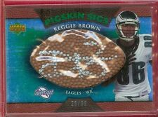 "2007 SWEET SPOT (FB) Reggie Brown SP ""PIGSKIN SIGS"" AUTO CHASE Card #'d 29/99"