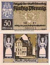 Germany 50 Pfennig 1921 Schneeberg Notgeld AU-UNC Banknote