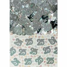 Confettis de table 25 argentés Noces d'argent sachet 14 gr 3702518 mariage fetes