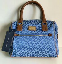 NEW! TOMMY HILFIGER BLUE BOWLER SATCHEL DOCTOR BAG PURSE $79 SALE