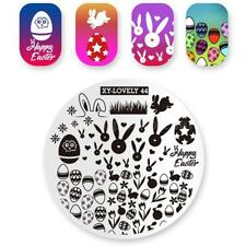 Nail Art Stamping Plate Image Decoration Easter Bunny Rabbit Mini Eggs (XL44)