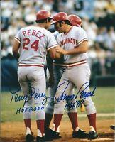 Johnny Bench / Tony Perez Autographed Signed 8x10 Photo ( HOF Reds )REPRINT