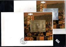/// GUYANA 1992 - 2 FDC - GOLD + SILVER - COLUMBUS, SHIPS, ROTARY