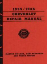 Chevrolet Car & Truck 1935-1936 Shop Manual Chevy 35-36