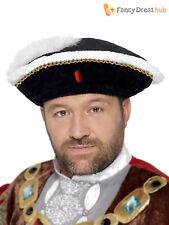 Adulte homme roi henry viii 8th chapeau tudor médiéval costume déguisement accessoire