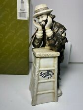 """Flambro Emmett Kelly Signed Clown """"Why Me?"""" Limited Edition #0992 (2004, New)"""