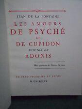 LES AMOURS DE PSYCHÉ ET DE CUPIDON ADONIS LA FONTAINE ILLS MOREAU JEUNE CFL