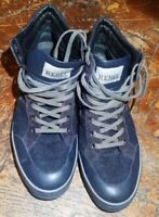 Scarpe HOGAN REBEL in pelle scamosciate Nr.39 AFFARE blu e grigie