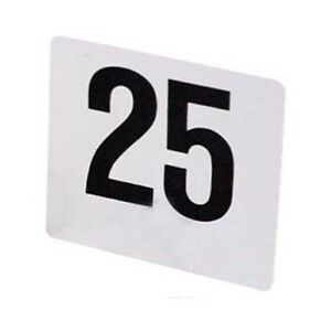 Table Numbers Plastic, 1 Set Size 1 through 50