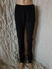 Sarah Pacini black viscose  jersey stretch pull on trousers size 2 tall