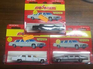 Majorette 339 Cadillac Stretch Limousine Lot of 3
