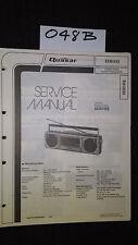 Quasar GX3614XQ service manual stereo cassette player boombox original repair