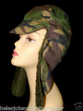 KLOOT MEIJBURG KL Dutch Army Camo Cold Weather Cap Field Hat Size 57cm