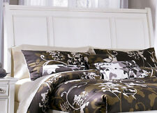 TAMPA 5pcs Traditional White  Bedroom Set w/ Queen Sleigh Storage Platform Bed